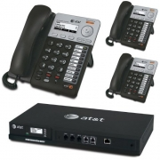 AT&T SB35010 4-Line Analog Gateway w/ 3 Syn248 Corded Phone Systems