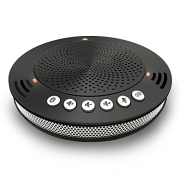 Meeteasy MVOICE1000-B Silver Edition Bluetooth USB Conference Speakerphone for PC Softphone and Mobile